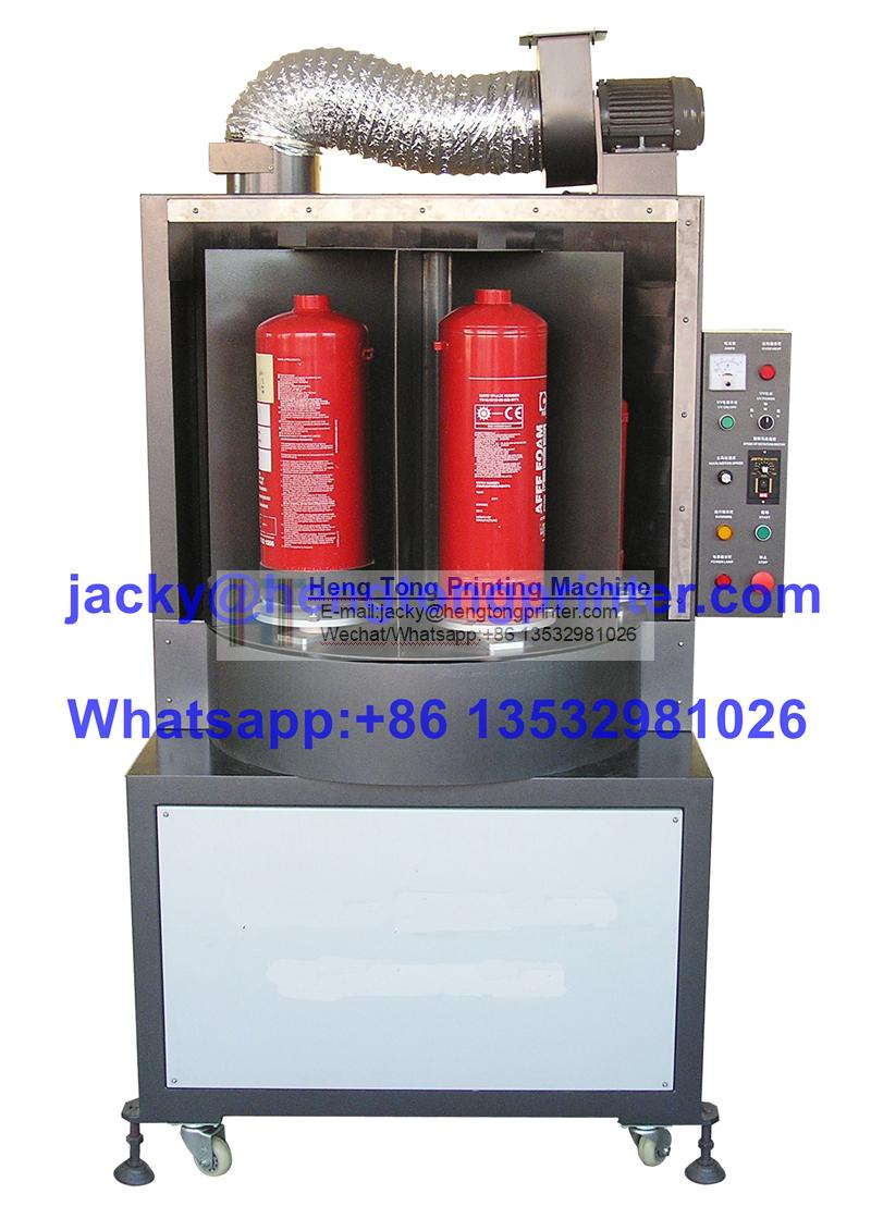 UV Drying Machine, UV Coating Machine, Rotating Disc Type UV Coating Machine For Big Cylindrical Containers