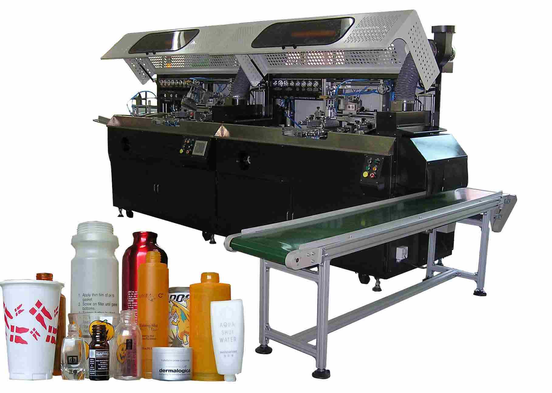 Cylindrical & Oval Bottle Muti Color Automatic Screen Printing Machine