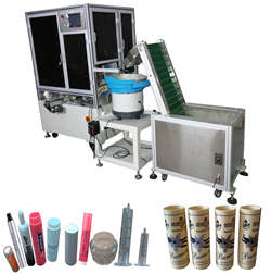 Cap,Tube, Cylindrical, Pharmaceutical Syringe, Lid Full Auto Screen Printing Machine
