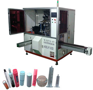 Cap,Tube, Cylindrical, Pharmaceutical Syringe, Lid Full Auto Two Color Screen Printing Machine For